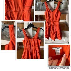 Orange tank top dress by bar III.